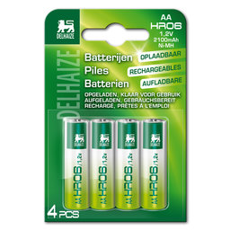 Piles rechargeables   AA   HR06   1,2 V