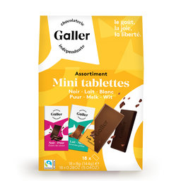 Chocolat | Mini tablettes | assortiment | fairtrade