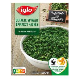 Gehakte spinazie   Porties