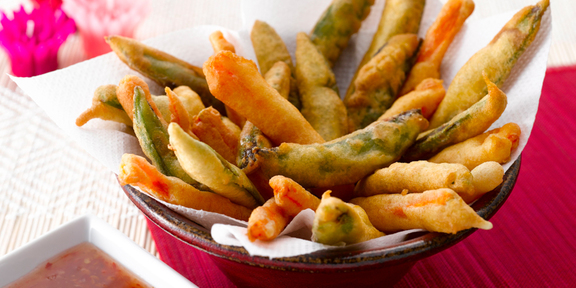 Tempura de légumes, sauce piquante 30afe258f0ef
