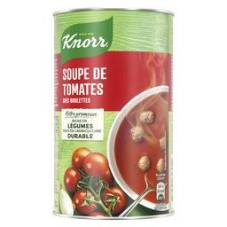 Soupe en boîte   Tomates et boulettes