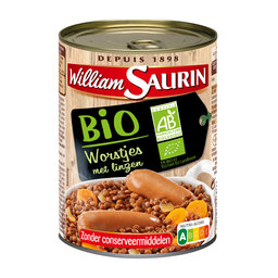 William Saurin   BIO Worstjes met linzen   BIO   Bereide Maaltijd   420g