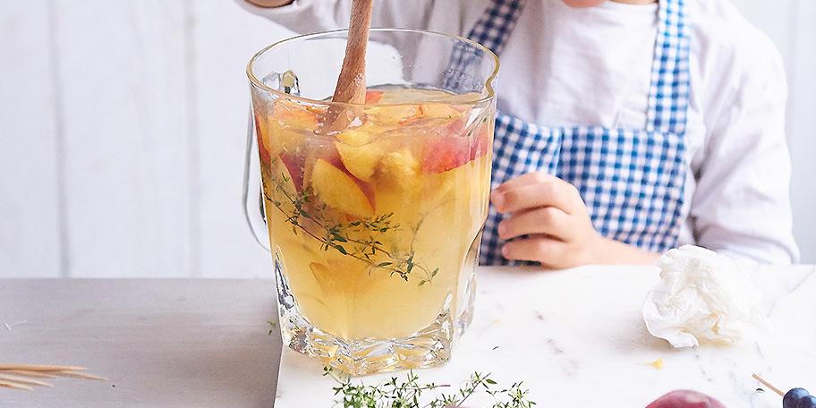 Icetea met perzik/mango en munt