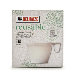 Herbruikbare koffie beker   plastic   15cl