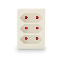 Domino 3*2.5A | Blanc