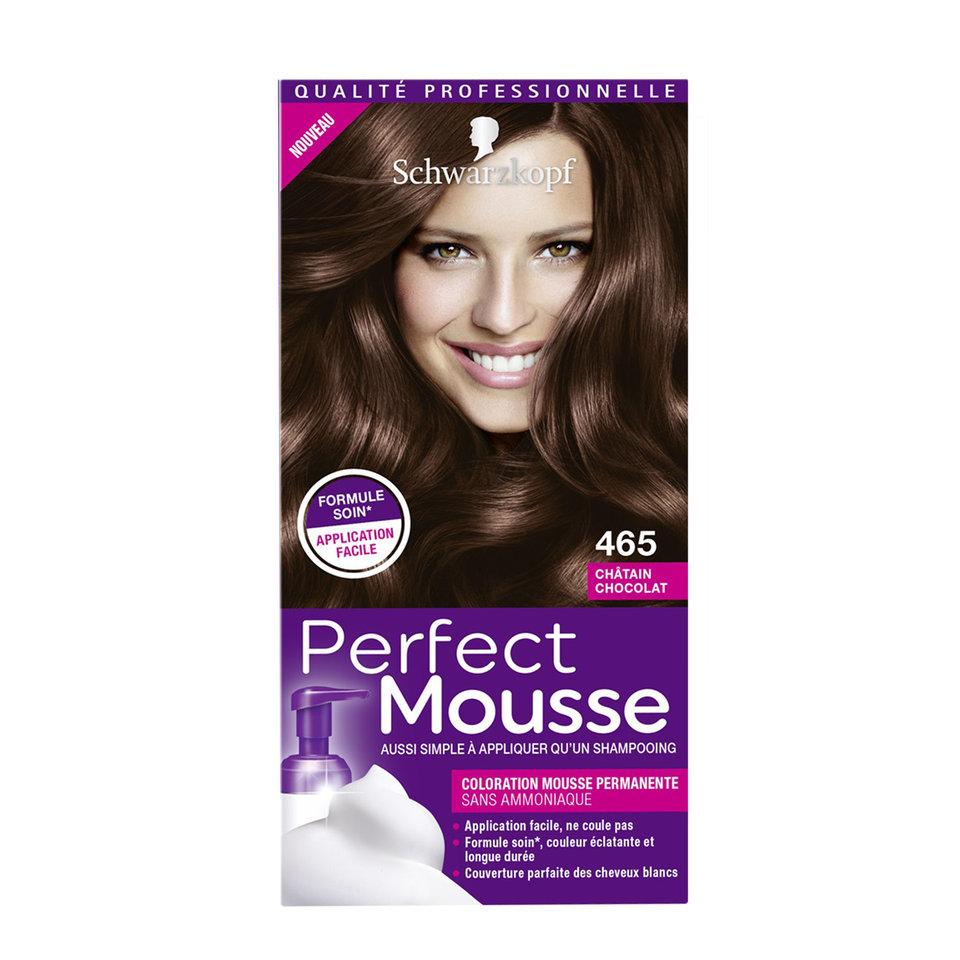 Coloration cheveux perfect mousse