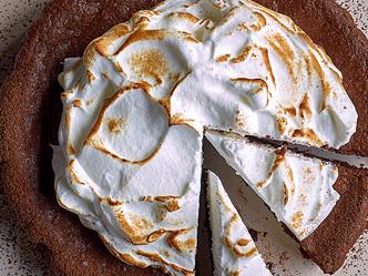 Chocolade fondant met meringue