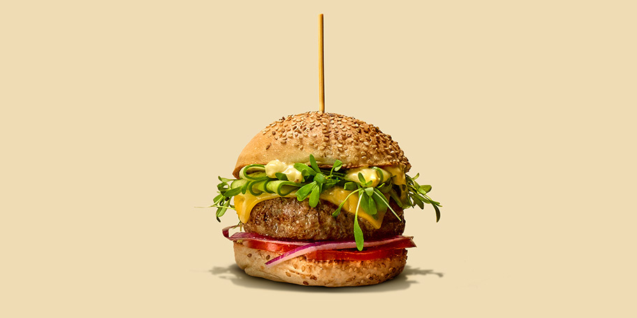 Cheeseburgers d'Angus Beef, sauce gribiche