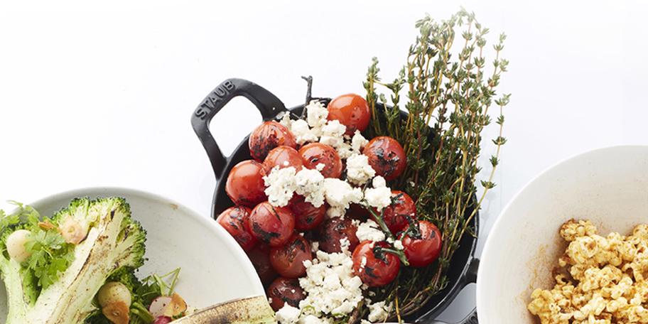 Tomates cerises grillées à la feta
