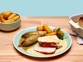 Rôti de porc à la sauce moutarde Plat National