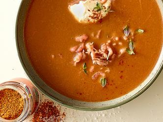 Soupe de crevettes grises facile, façon bouillabaisse