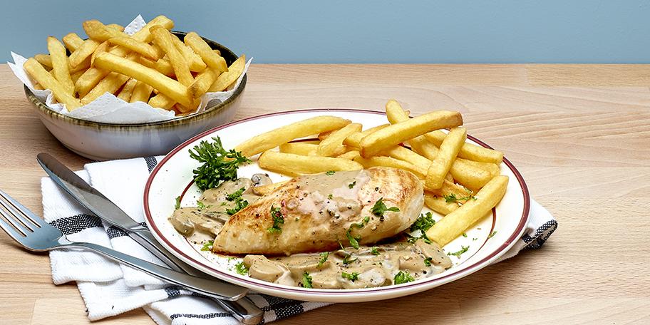 Filets de poulet, sauce archiduc