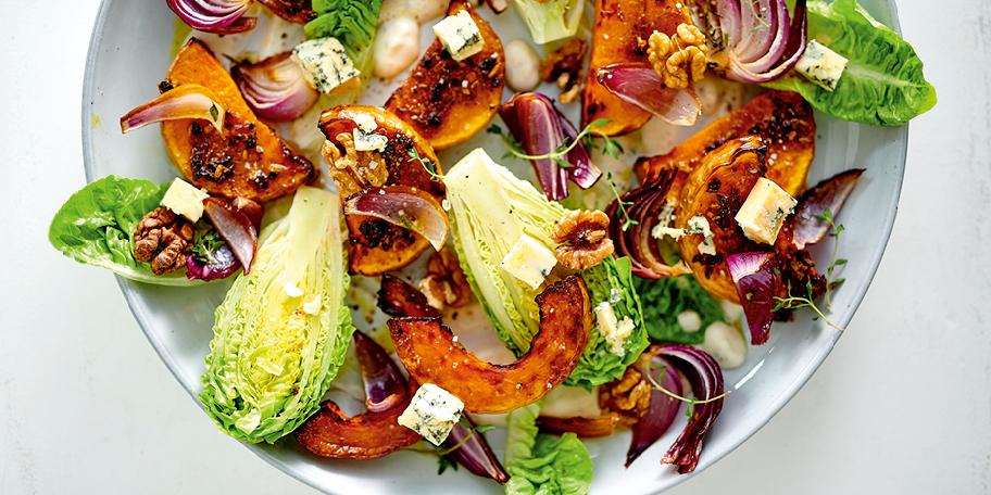 Salade à la butternut rôtie