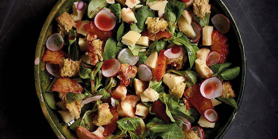 Salade au Beaufort et à l'orange confite