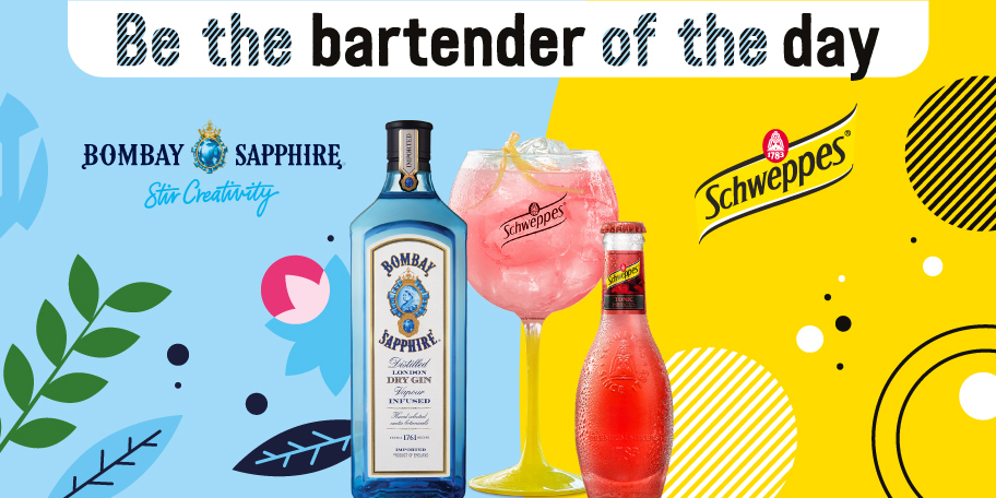 Bombay Sapphire & Schweppes Tonic Cocktail