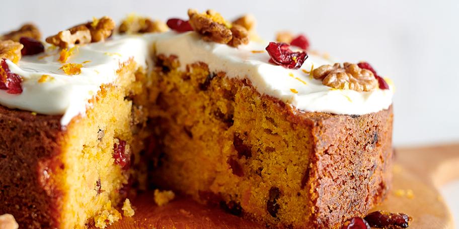 Cake à la butternut, glaçage au mascarpone