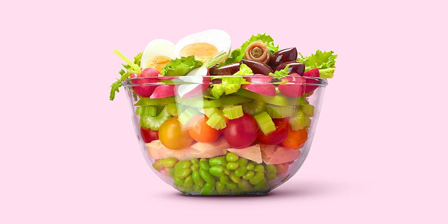 Salade niçoise met edamame